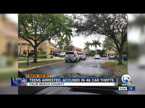 3 juveniles arrested, linked to 46 high-end auto thefts in Palm Beach County