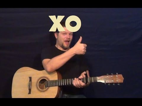 XO (Beyonce) Easy Strum Guitar Lesson How to Play Tutorial - YouTube