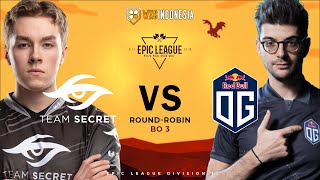[Dota 2 Live] OG vs Secret - EPIC LEAGUE Groupstage | ANONIM