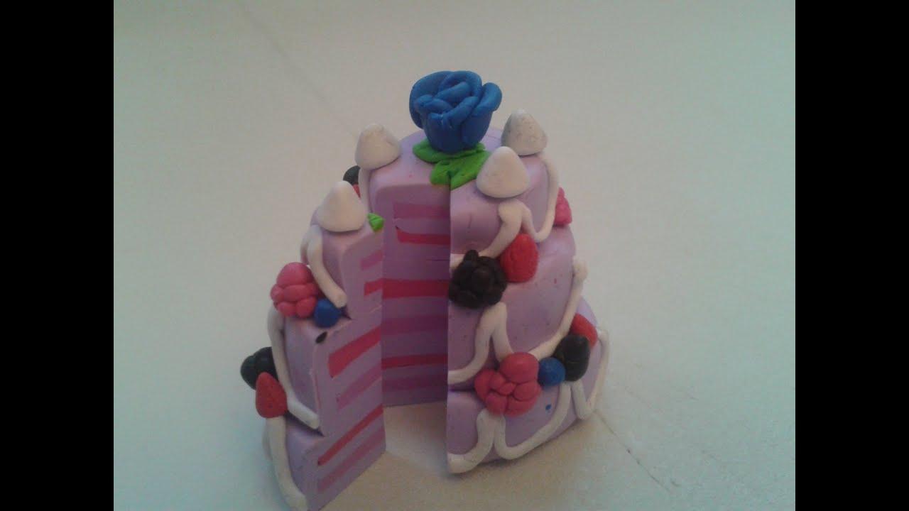 Créations Fimo - Gâteau de mariage - YouTube