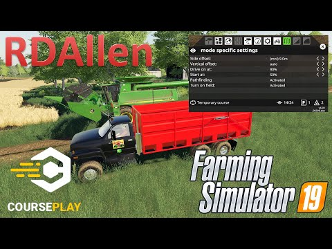 Courseplay Harvesting And Unloading With A Truck Or Trailer