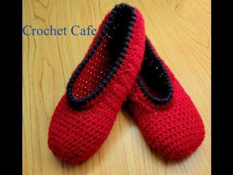 4d0ca9ea7 Crochet Cafe channel كروشيه حذاء باليرينا سهل |قناة كروشيه كافيه - YouTube