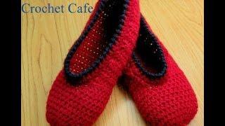 Crochet Cafe channel كروشيه حذاء باليرينا سهل |قناة كروشيه كافيه