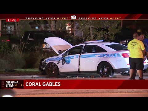 Miami Police Officer Involved In Two-vehicle Crash In Coral Gables