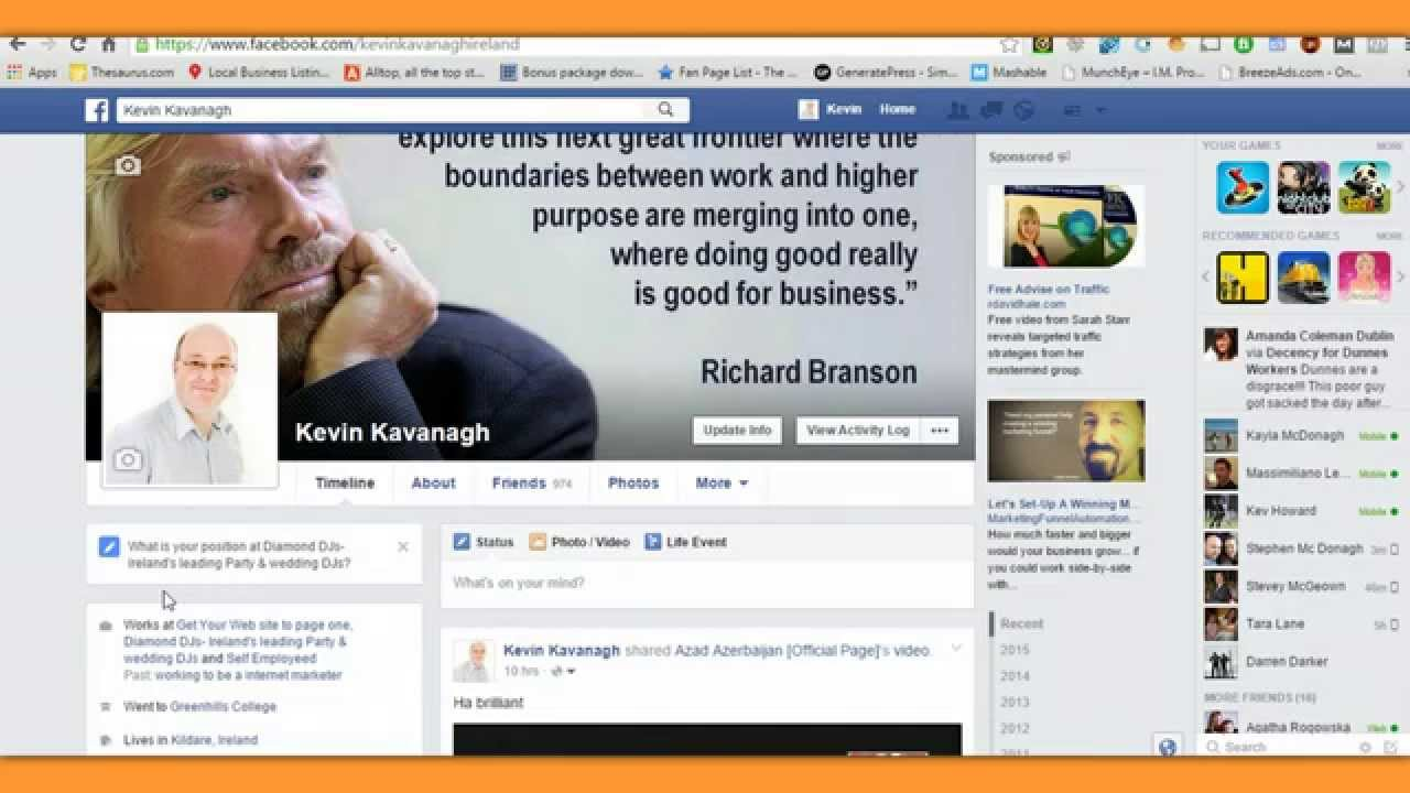 how to open a new facebook page