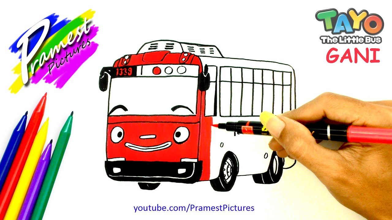 How To Draw Gani Tayo The Little Bus Coloring Pages