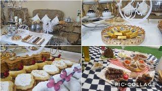 الاحتفال بالعيد في🇩🇿افكار جديدة للمهيبة مع وصفات كثيرة و حلوياتي اللي صنعتهم وتدابير بلا حدود