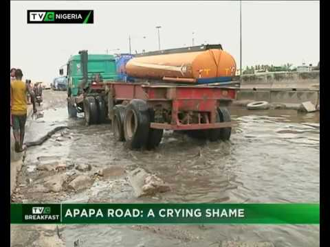 Lagos Apapa road : A crying shame