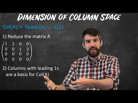 Computing Dimension Of Null Space & Column Space