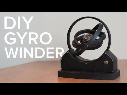 Make a beautiful DIY gyro watch winder from plywood
