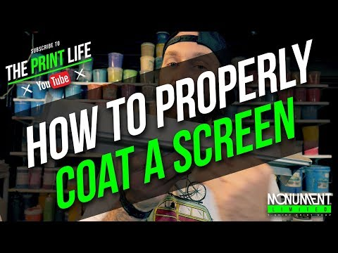 How to Coat a Screen for Screen Printing.