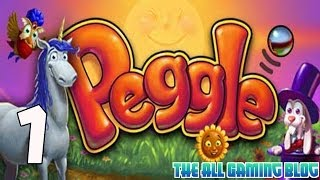 Peggle PC Gameplay / Playthrough Part 1 | Colored Balls