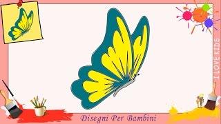 Disegni di farfalla - Come disegnare una farfalla FACILE passo per passo per bambini