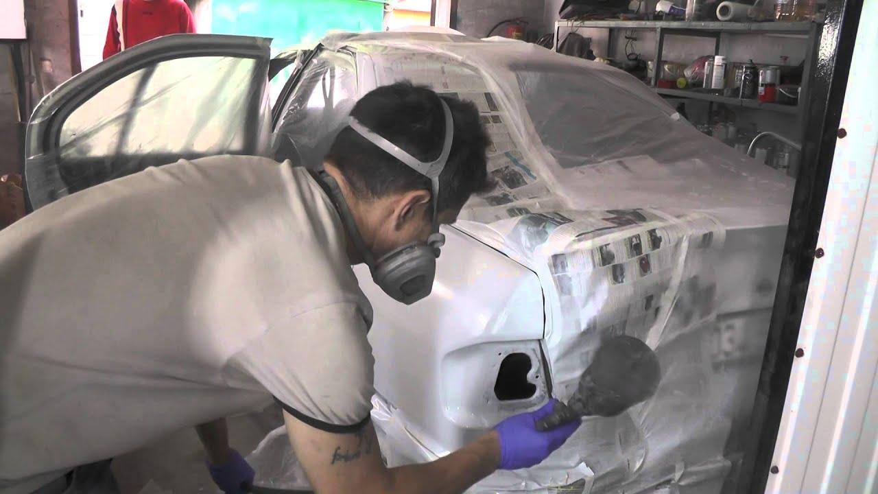 Как правильно красить крышу авто.Как убрать царапину