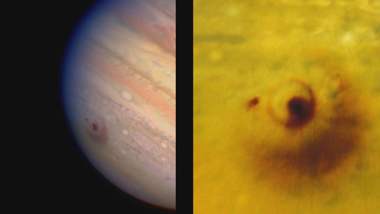 Столкновение кометы с Юпитером (Телескоп им. Хаббла)