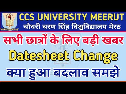 CCS University Meerut New Updates  CCS University New Date Sheet 2021   University Date Sheet Change