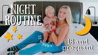 Teen Mom Pregnant Night Routine *ft. my toddler and my boyfriend*