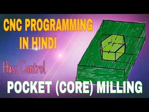 CNC Programing ! Pocket Milling !CNC PROGRAMMING IN HINDI FOR HASS CONTROL !