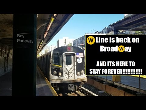 BMT Broadway Line: R160 (W) Train Line Resurrection Compilation!