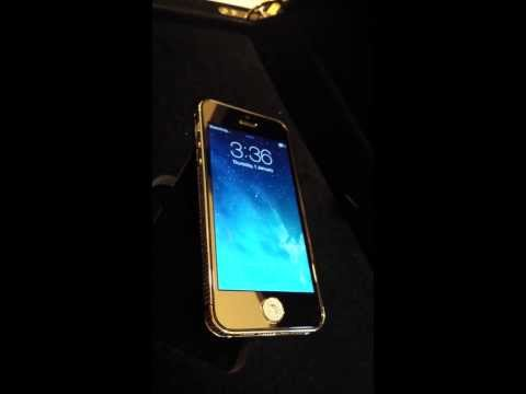 """""""Apple iphone 5 custom 24ct gold plated"""" crystal bezel, crystal home button"""