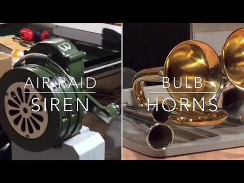 Air Raid Siren / Bulb Horns
