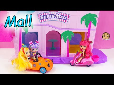 Black Friday Shopping ! Shopkins Shoppies Dolls Shop At Super Mall - Toy Video