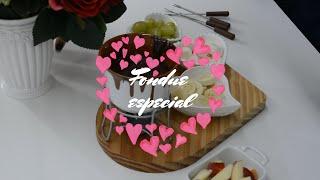 Receita de fondue de chocolate - especial feita pelo meu amor no nosso especial dia dos namorados