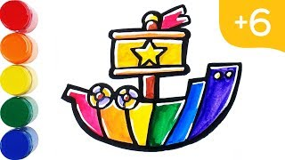 Toy Ship Coloring   Toy Boat Coloring   Toy Car   Toy Color   Learn Coloring   Mini Art Kids