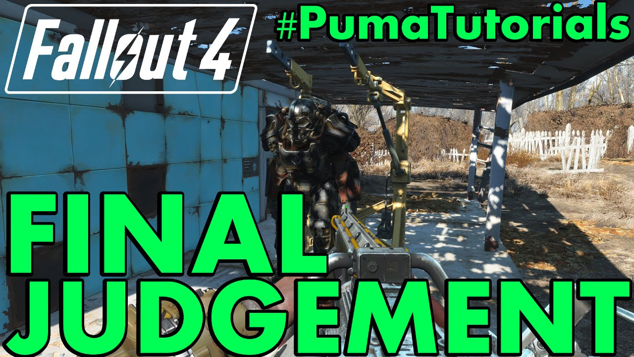 FALLOUT 4: Unique Weapons Guide - How to get the Final Judgement Gatling  Laser #PumaTutorials