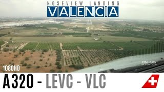 A320 Pilotview Landing in Valencia