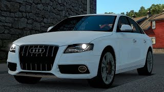 English:You can use Audi RS4 in ETS2 now. You can buy it Renault dealers. Working in 1.31.x ——————————————————– v1.5 ——————————————————– English › 1 Cabin. › 1 Chasis. › 1 Engine Option. › 1 Gearbox. › 1 Rim & Whell. › All Colors working. › Lightmask work
