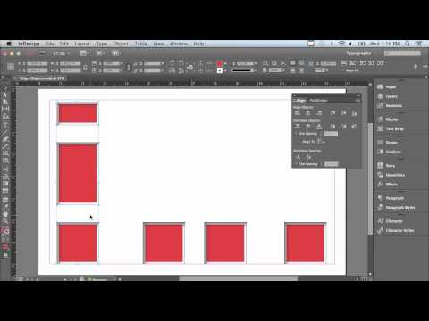 Adobe InDesign CC Tutorial   Aligning Objects With Ease
