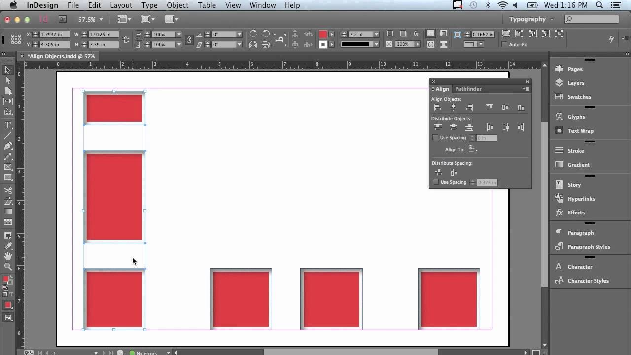 Adobe InDesign CC Tutorial | Aligning Objects With Ease
