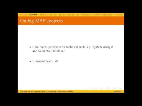 Me4MAP: A method for the development of metadata application profiles