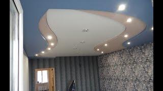 Обшивка потолка гипсокартоном: как сделать своими руками, видео, инструкция и фото