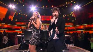 "true HD Haley Reinhart & Casey Abrams duet ""I Feel the Earth Move"" - American Idol 2011 (Apr 27)"