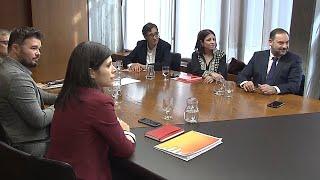 """PSOE y ERC constatan """"avances para encauzar el conflicto"""" en Cataluña"""