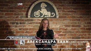 "Санкт-Петербург - День города. ""Бродячая собака"". Свои стихи читает Александра Таан"