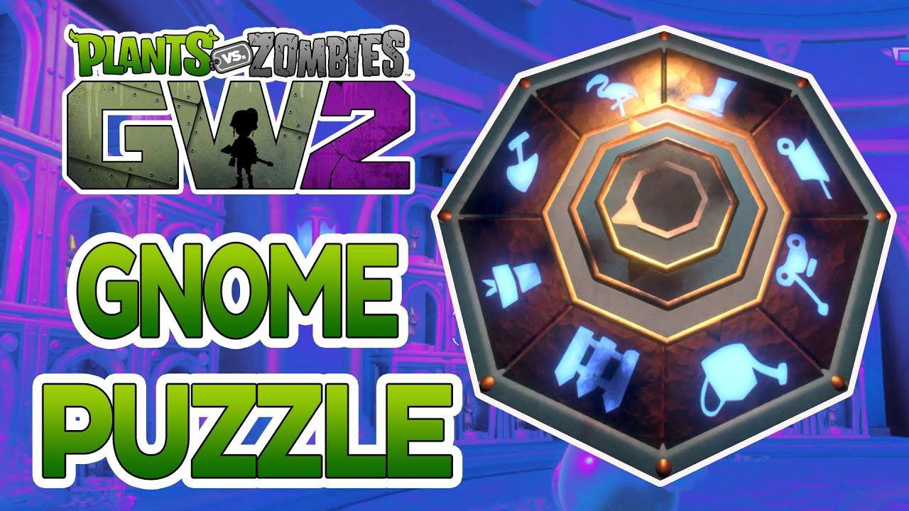 Plants Vs Zombies Garden Warfare 2 Solving The Gold Gnome Lever Puzzle Youtube