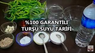 % 100 GARANTİLİ TURŞU SUYU TARİFİ