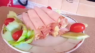 Рулетики с сыром и яйцом Холодная закуска
