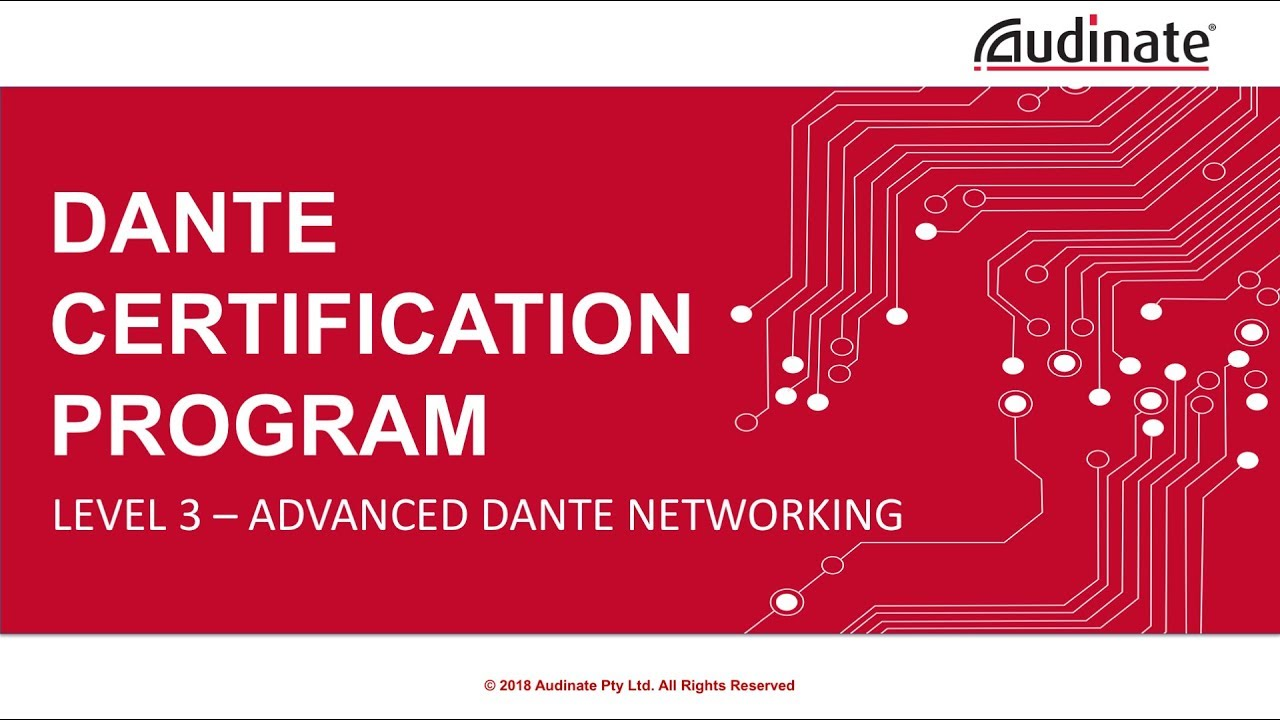 Dante Certification Program Level 3 Module 12 Igmp Youtube