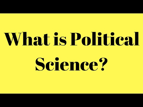 What is Political Science? What is the meaning of political science?