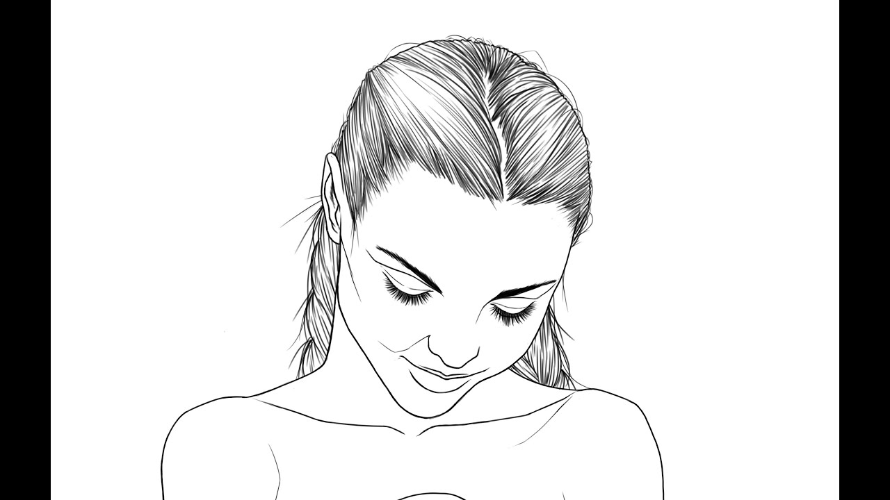 Line Art Hair : Amelie line art new hair youtube