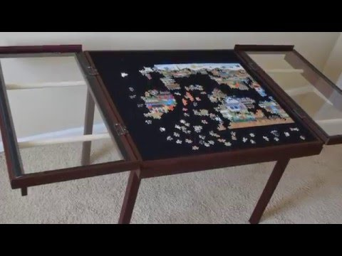 WoodBuckle Windowpane Puzzle Table   YouTube