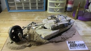 Building Tamiya M1a2 Abrams. From Start To Finish. 1/35 Scale. Part 2 Direct Hit