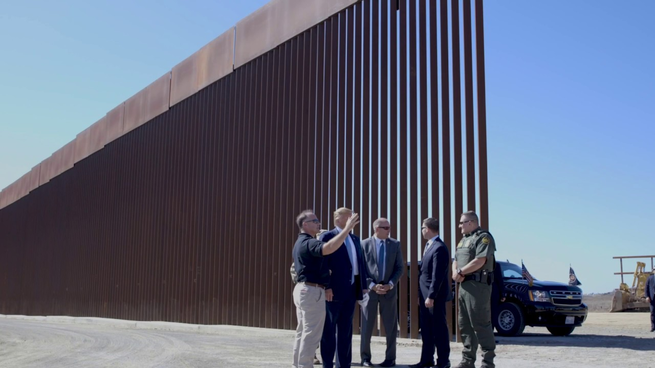 The White House President Donald Trump Tours the Progress on the Border Wall in San Diego, CA
