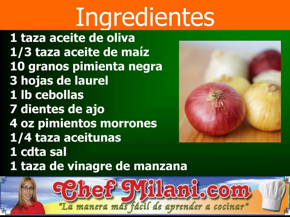 ingredientes escabeche