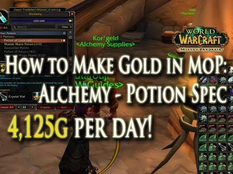 4 125g per day how to make gold w alchemy in mop potion master rh youtube com Vanilla WoW Leveling Guide Best WoW Leveling Guide