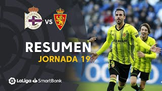 Resumen de RC Deportivo vs Real Zaragoza (1-3)